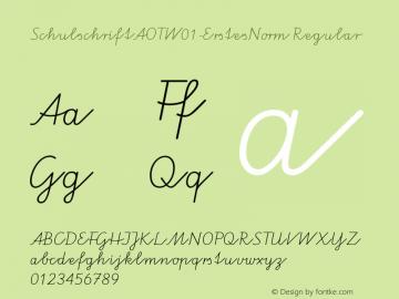 SchulschriftAOTW01-ErstesNorm Regular Version 7.504 Font Sample