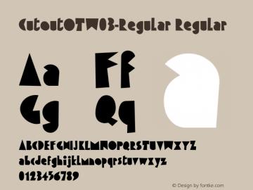 CutoutOTW03-Regular Regular Version 7.504 Font Sample