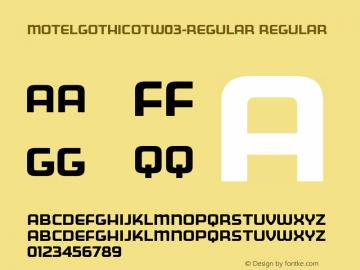 MotelGothicOTW03-Regular Regular Version 7.504图片样张