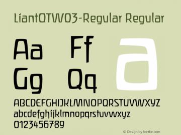 LiantOTW03-Regular Regular Version 7.504图片样张