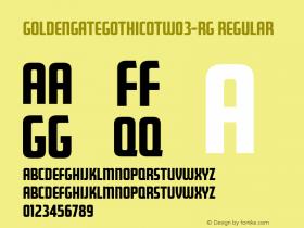 GoldenGateGothicOTW03-Rg Regular Version 7.504图片样张