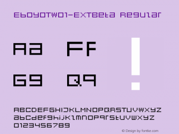 EboyOTW01-EXTBeta Regular Version 7.502 Font Sample