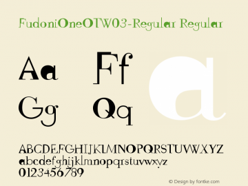 FudoniOneOTW03-Regular Regular Version 7.504 Font Sample