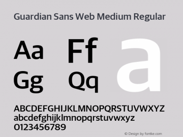 Guardian Sans Web Medium Regular Version 001.002 2009图片样张