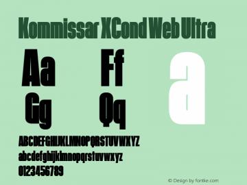 Kommissar XCond Web Ultra Version 1.1 2011 Font Sample