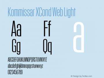 Kommissar XCond Web Light Version 1.1 2014 Font Sample