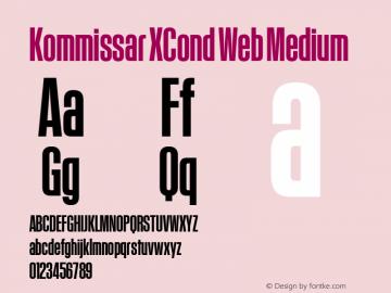Kommissar XCond Web Medium Version 1.1 2011 Font Sample